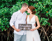 Rustic Wedding Sign Save the Date Sign Engagement Photo Prop Sign Wedding Date Sign Wedding Wood Sign Last Name Sign Custom Wedding Sign