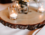 Set of 12 14 inch wood centerpieces Rustic wedding centerpieces large wood slices wood slices for centerpieces wood center pieces!