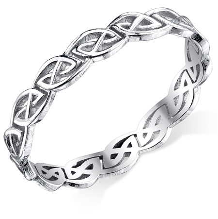 Celtic Knot Band in Sterling Silver