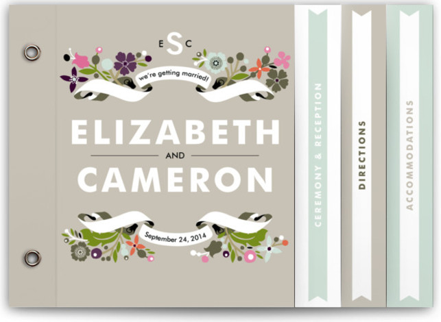 Banner And Branches Wedding Invitation Minibooks