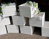 white wood crates 10x10x8, wedding crates , storage crate, rustic wedding decor , rustic wooden crates , table centerpiece , rustic wedding