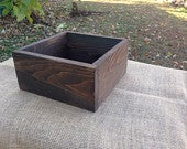 12 x 12 Rustic Flower Box, Wedding Centerpiece, Wood Box