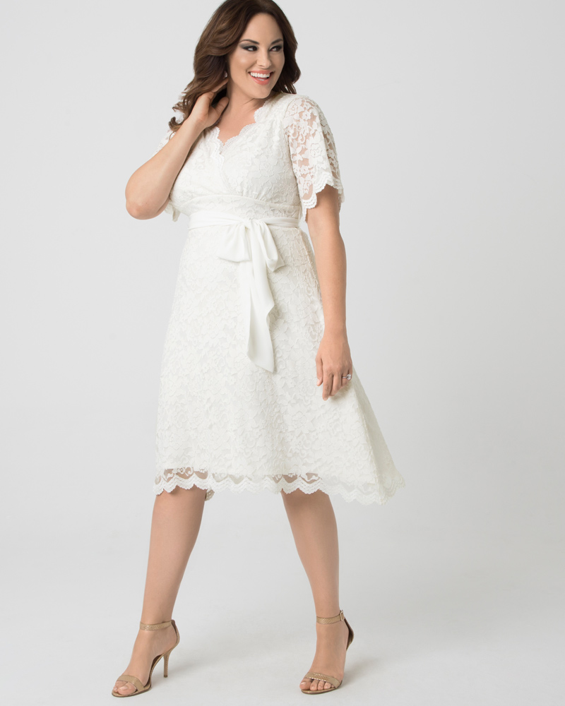 Kiyonna Womens Plus Size Graced with Love Wedding Dress - Sample Sale