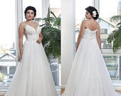 Plus Size Beach Wedding Dress Open Back Spaghetti Straps Maxi Dress Plus Size Elven Wedding Dress Maternity Dress Lace Corset Aline Dress