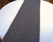 Gray Burlap Table Runner Grey Wedding Decorations Gray Home Decor Industrial Chic Style Wedding Dark Gray Table Runners