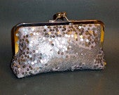Bridal Clutch Silver Sequined Clutch BRIDAL Bridesmaid Fall Holiday