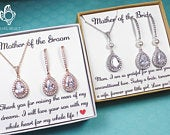Mother of the groom gift set,Mother of the Bride gift set,Mother in law gift set,mother in law wedding gift set Mother of the Bride earrings