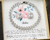 Mother of the groom set , Mother of the bride set, Bridal jewelry set, Mothers gift, Mother in law, Mom gift set Custom