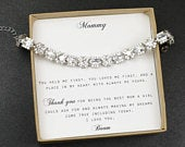 mother of the bride gift bracelet from bride mother of the groom gift step mother of the bride stepmom wedding gift necklace(LONG EARRINGS)