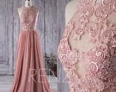 Boho Wedding Dress for Women Halter Blush Long Formal Dress Aline Lace Wedding Gown (X002)