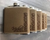 Groomsman Gift Bridesmaid Proposal Groomsmen Proposal Best Man Proposal Personalize Flask Engraved Box Set Wedding Party Gift