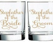 Stepfather of the Bride Decal, Stepfather of the Groom Decal, DIY Wedding Decal, Gift for Father, Wine Glass Decal, Personalized glass label