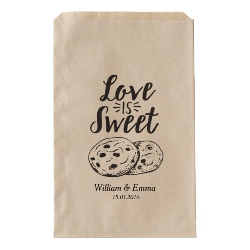 Personalized Wedding Favor Bags Cookies