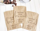 Wedding Favor Bags Rustic Laurel Candy Bags Bridal Shower Cookie Bags Candy Buffet Printed Paper Bags Set of 25