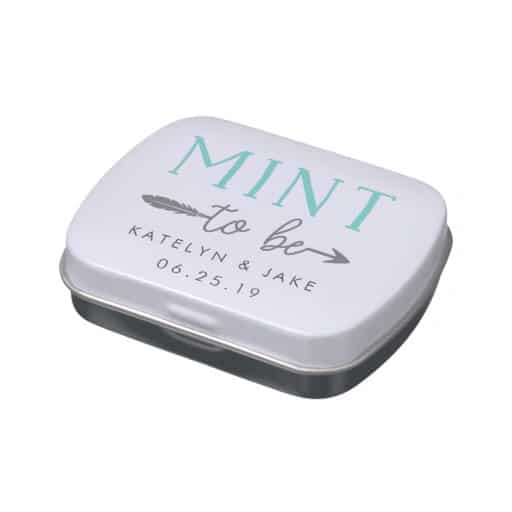 Mint to Be Personalized Wedding Favor Mints Candy Tin
