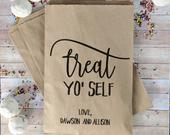 Treat Yo Self Favor Bags, Popcorn Bag, Donut Bags for Wedding, Wedding Treat Bags, Wedding Favor Bags, DIY Weddings