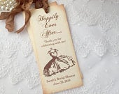Bridal Shower Bookmarks, Favor Wedding Shower, Vintage Dress Set of 10