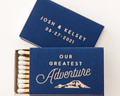 Personalized Matchboxes Our Greatest Adventure Wedding Favors, Wedding Matches, Personalized Matches, Custom Matchbox, Outdoor Wedding
