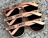 Personalized Sunglasses, Rose Gold Sunglasses, Wedding Favors, Bridesmaid Sunglasses, Bachelorette Shades, Custom Sunglasses, Party Favors