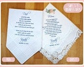 Mother of the Bride Gift Father of the Bride Gift from the Bride, wedding handkerchief from daughter, printed, mother of bride gift2 POB1
