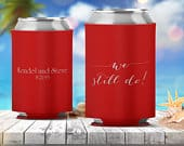 Personalized Can Hugger Cooler Wedding Favors Printed Coolie Custom Monogram 26 Colors Avail We can also use your custom artwork / logo!