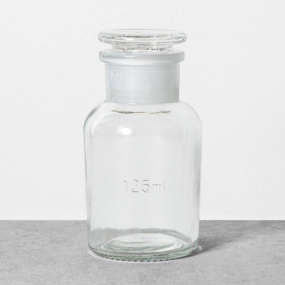 125ml Apothecary Glass Storage Bottle - Hearth & Hand with Magnolia, Clear