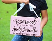 In Loving Memory Wedding Sign With or Without Chair Hanger Reserved Signs In Memory of Loved One Hand Painted Lumber And Letters