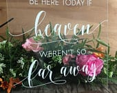 We Know You Would Be Here Today If Heaven Wasnt So Far Away Acrylic Wedding Memorial Sign Clear Glass Look Acrylic Wedding Sign