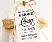 Baby Shower Favors, Baby Shower Favor Tags, We Are Adding Smore Love To Our Family, Smores Tag, Smores Favor Tags, Smores Tags, Smores