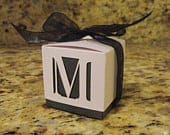 2 1/4 Square Inch Laser Cut Custom Design Favor Box (Customize your favor box with a Monogram)
