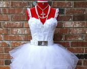 80s Prom DressIncludes Accessories 80s Style Clothing Madonna Like a Virgin Costume Outfit Size 00 2 4 6 8 10 12 14 16 18 20 22 Plus