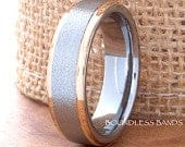 Tungsten Wedding Bands Brushed Polish Stepped 6mm Comfort Fit Unisex Tungsten Ring Handmade White Rose Anniversary Engagement Promise Ring