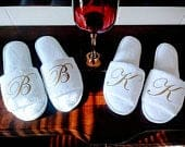 Personalized Slippers Monogrammed Slippers Custom Slippers Bridesmaid Gift Slippers Girls Trip Gift with Bridesmaid Initials