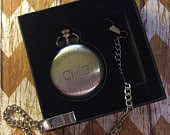 Pocket Watch Personalized Groomsmen Gift Engraved Pocket Watches with Chains Father of the Bride Best Man Groomsman Bridal Party