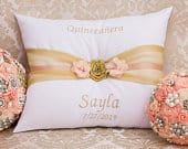 Personalized Quinceanera Pillow Set, Quince Shoe Pillow, My Sweet 16 Kneeling Pillow, Mis 15 Anos, Tiara Pillow