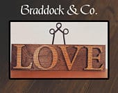 Love Letters Sign, Love Sign, 1 Corinthians Sign, Wedding Gift, First Home Gift, Newlyweds Gift, Engagement Gift, Mothers day Gift, Engrave
