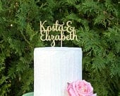 Custom Wedding Cake Topper Custom Name Cake Topper Custom Engagement Topper Wedding Decor Engagement Party Decor Wedding party