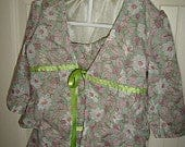 Sage Green Floral set of matching jacket and skirt for 4T girls