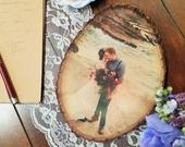 Photo Tree Slice Personalized with Your Picture Printed on Wood Slab Rustic Wedding, New Baby, Birthday, Housewarming, Anniversary Gift