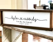 Personalized Wedding Gift From this Day Forward Engagement Gift Wood Anniversary Gift Wedding Decor Rustic Wedding Sign Wood Sign