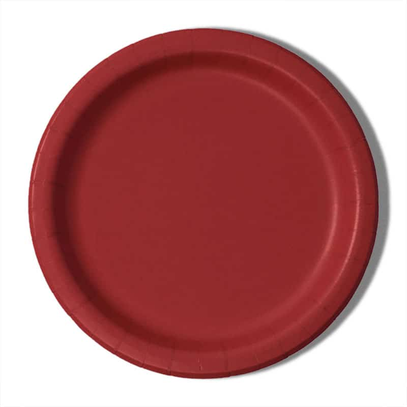 "9"" Red Paper Dinner Plates - Quantity: 8 - Household Supplies by Paper Mart"
