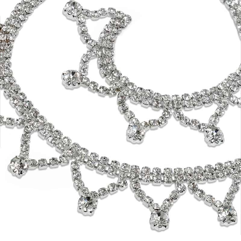"Jewel Sparkle Silver Tiara Rhinestone Chain - 7/8"" X 3yd - Glass - Cords by Paper Mart"