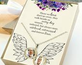 Personalized Memorial Gift For Mom, Necklace For Women, Memorial Necklace For Mother, Remembrance Gifts, Custom Photo Necklace, Christmas