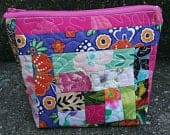 SOLD Recycled fabric scrap into a zipper pouch! Perfect ecofriendly gift for bridesmaids, teachers, birthday, mothers day, easter basket!