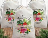 Beach Wedding Favor Bags Custom Personalized Wedding Welcome Bags