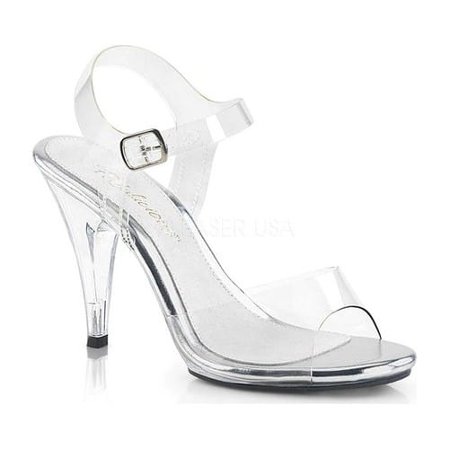 Women's Fabulicious Caress 408, Size: 5 M, Clear/Clear