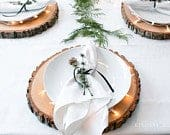 Set of 20 14 inch wood rounds Rustic wedding placemats placemats for wedding Rustic centerpieces centerpieces for wedding wood slices bulk