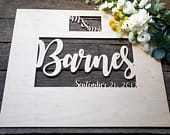 Wedding Guest Book Alternative 3D Guest book Sign for Wedding Signatures This Guest Book makes a great wall hanging after the wedding!
