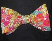 Mens LIBERTY of LONDON BOW Tie Annie Floral Multicolor Wedding Groom Groomsmen Formal Cotton BowTIe