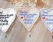 Wedding Tie Patch Groom, Personalized Heart Patch,Husband Suit Patch, Custom Embroidered Tie Patch, With my whole heart,ironon option